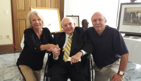 DR. JONES 95th BIRTHDAY PARTY SUNDAY AT HENDERSON COUNTY HISTORIC COURTHOUSE WHICH HE HELPED SAVE.
